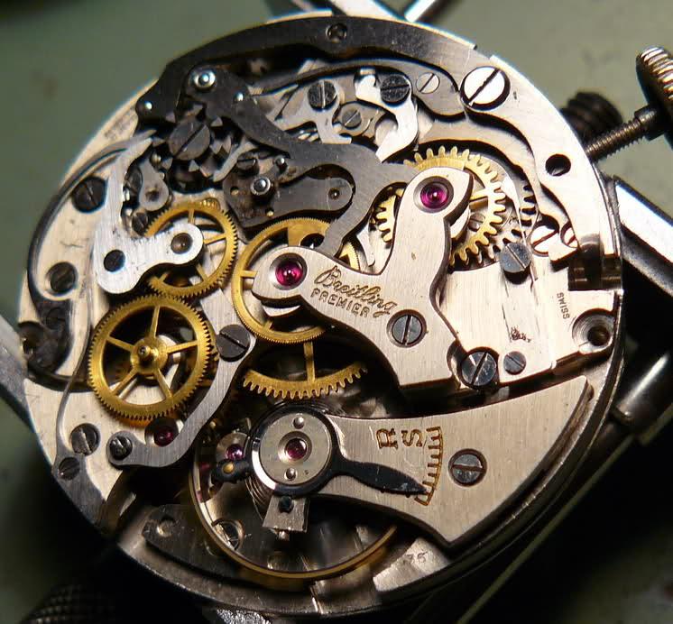 Chronographe Breitling Premier 1946 venus 175 3 compteurs 11tpgzt