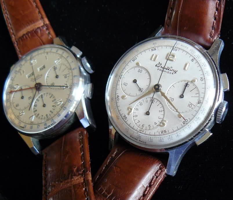 Chronographe Breitling Premier 1946 venus 175 3 compteurs 2kqbec