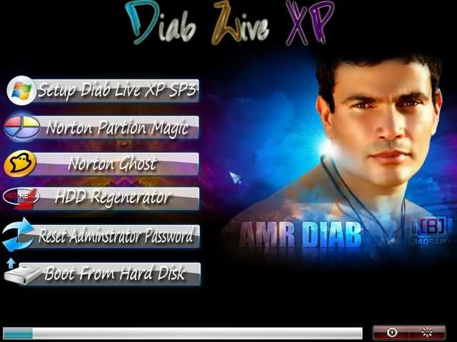 النسخة الرائعه للأسطورة والنجم عمرو دياب مصممه له Diab Live XP SP3 بحجم 652 ميجا علي اكثر من سيرفر 2qk4fv5