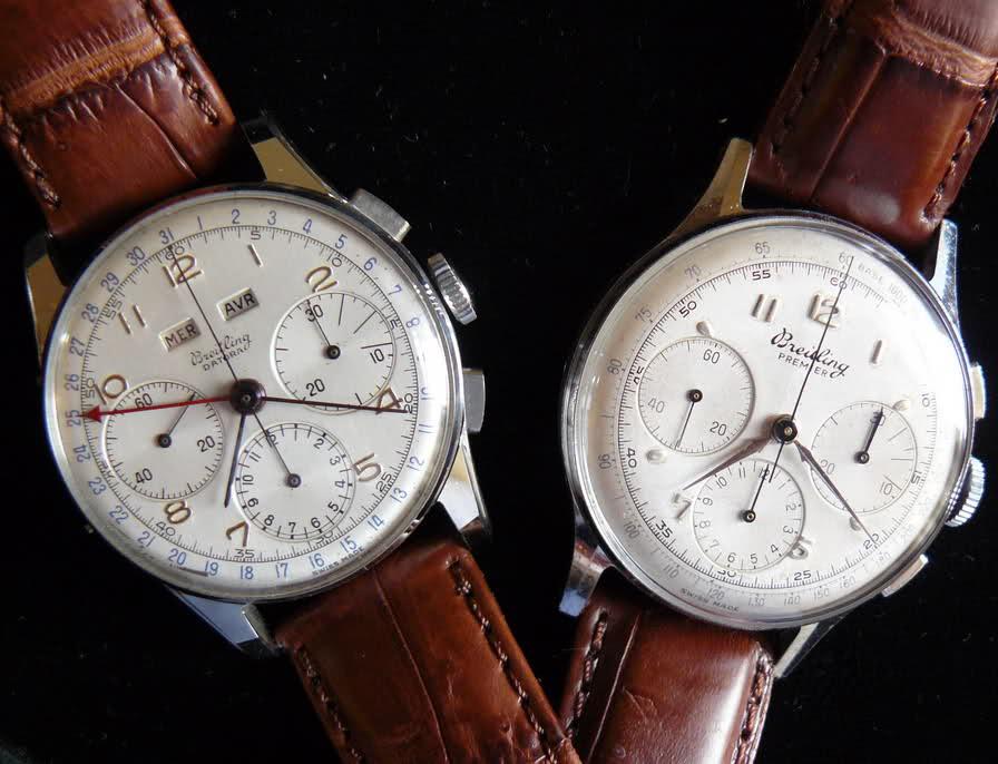 Chronographe Breitling Premier 1946 venus 175 3 compteurs Nmnnl0