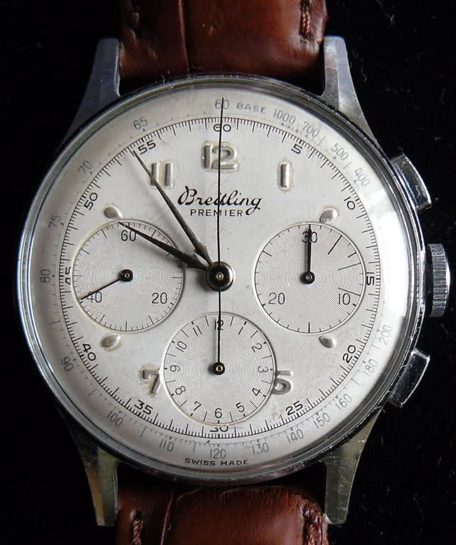 Chronographe Breitling Premier 1946 venus 175 3 compteurs Vxduhk
