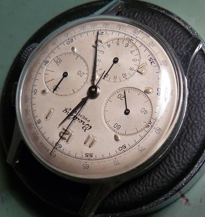 Chronographe Breitling Premier 1946 venus 175 3 compteurs 10pnbjq