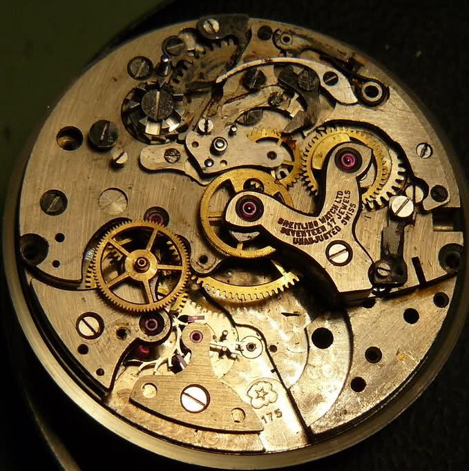 Chronographe Breitling Premier 1946 venus 175 3 compteurs 2mwi6hg