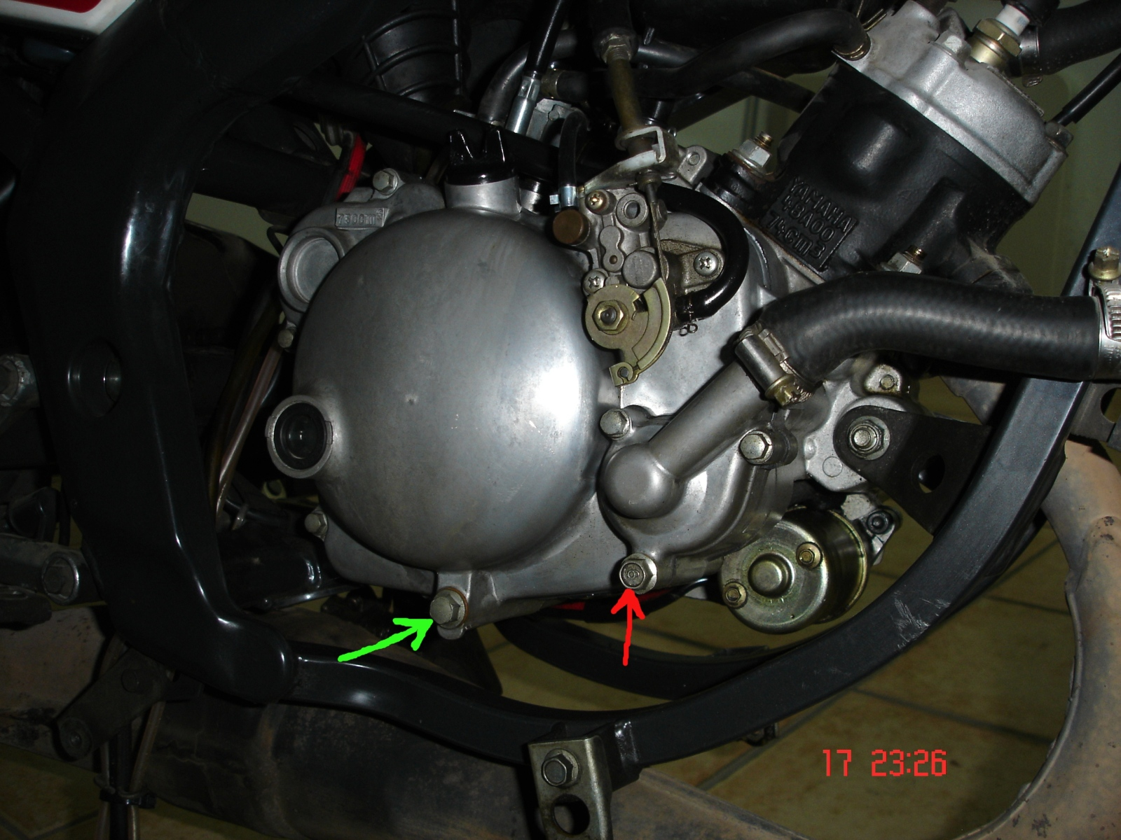 Fuga de aceite en Yamaha TZR 80 RR 5a00oj