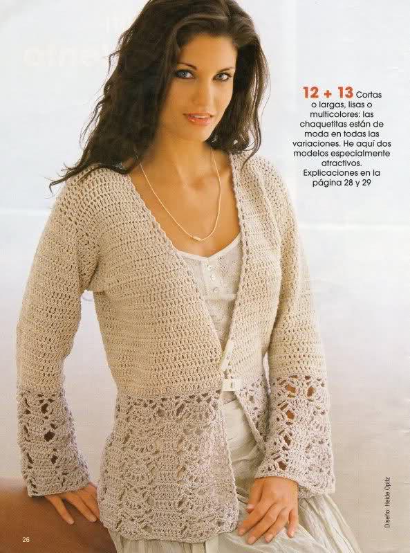 CROCHET - Busco abrigos de verano a crochet calados  5l6w3r
