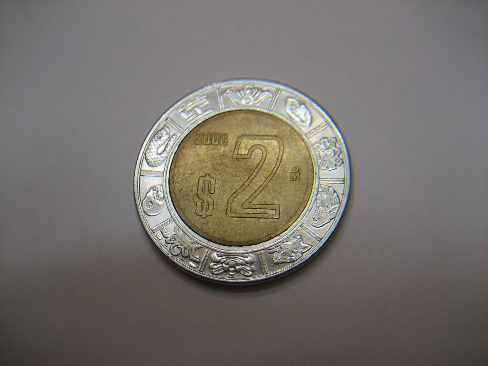 2 Pesos. Mexico. 2006 F4k4sh