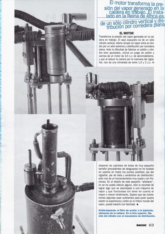 Motor a vapor Reina de África Ndlkeg