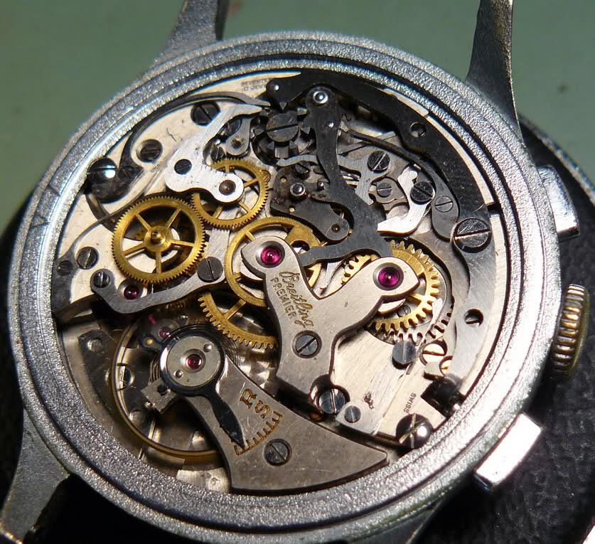 Chronographe Breitling Premier 1946 venus 175 3 compteurs S4tbw0