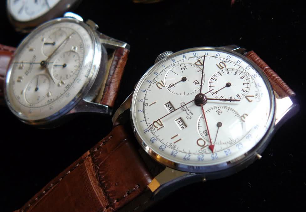 Chronographe Breitling Premier 1946 venus 175 3 compteurs 161xcfb