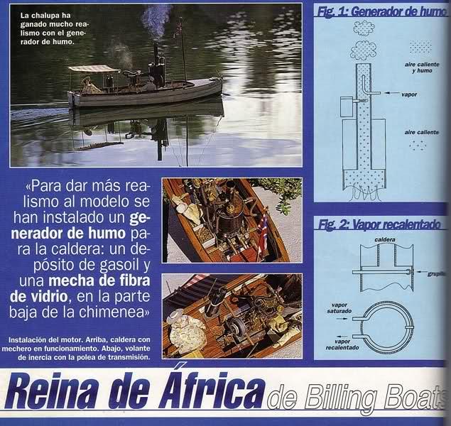 Motor a vapor Reina de África 2072ipt