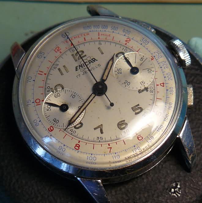 Chronographe Enicar R92 72tw6g