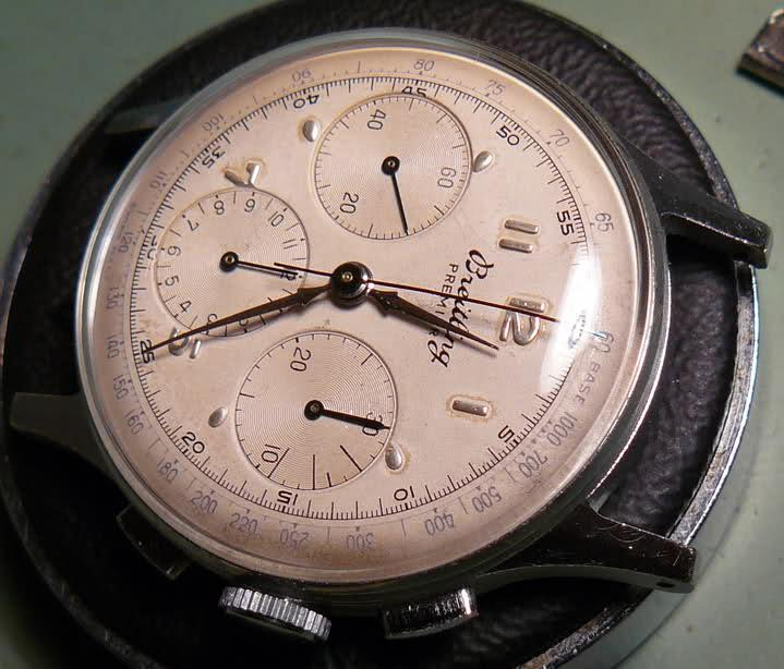 Chronographe Breitling Premier 1946 venus 175 3 compteurs Fpcqk2