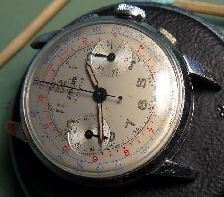Chronographe Enicar R92 Vx166t