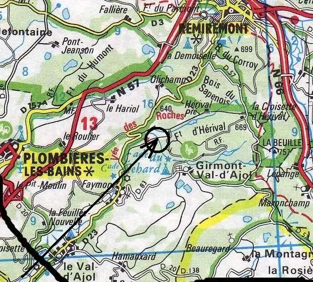 P 47 au Girmont Val d'Ajol  / oct 1944 - Ltt Robert A Boot 2hi7343