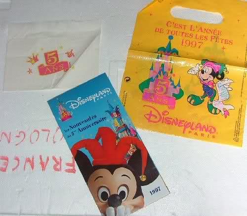 souvenirs gratuits de Disneyland  Paris à ses débuts Ivxsug