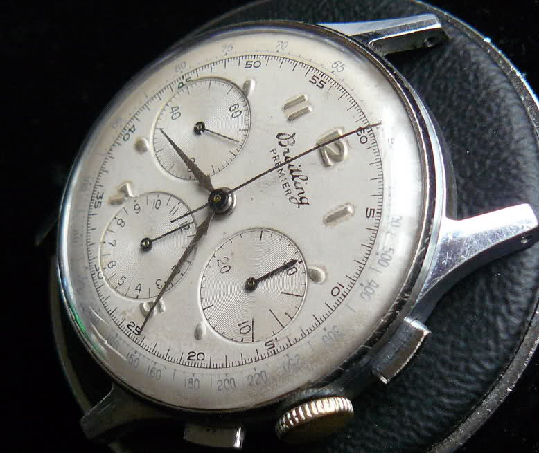 Chronographe Breitling Premier 1946 venus 175 3 compteurs Qrj8np