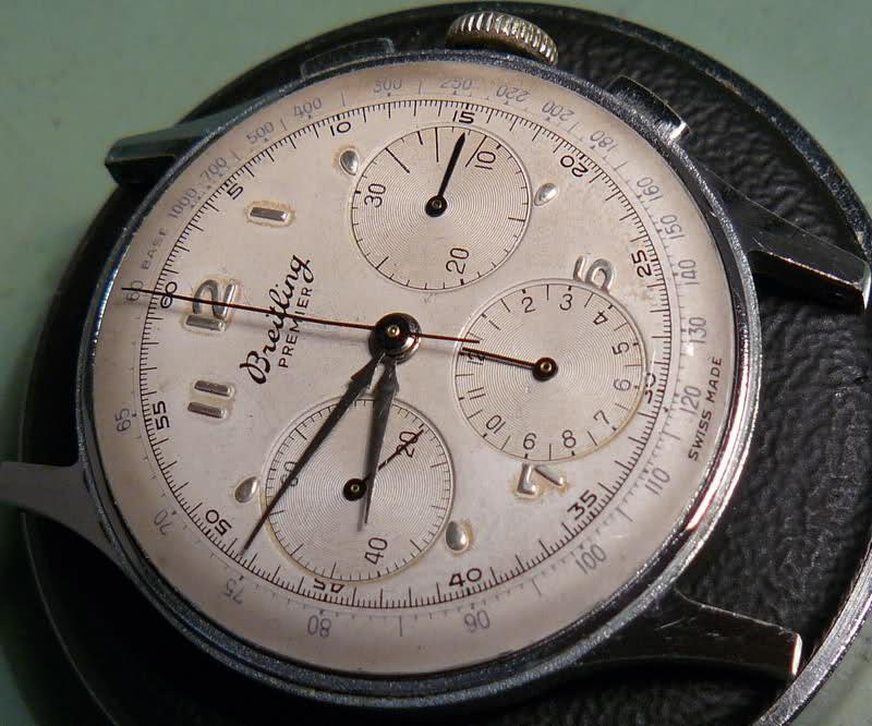 Chronographe Breitling Premier 1946 venus 175 3 compteurs S3ddhv