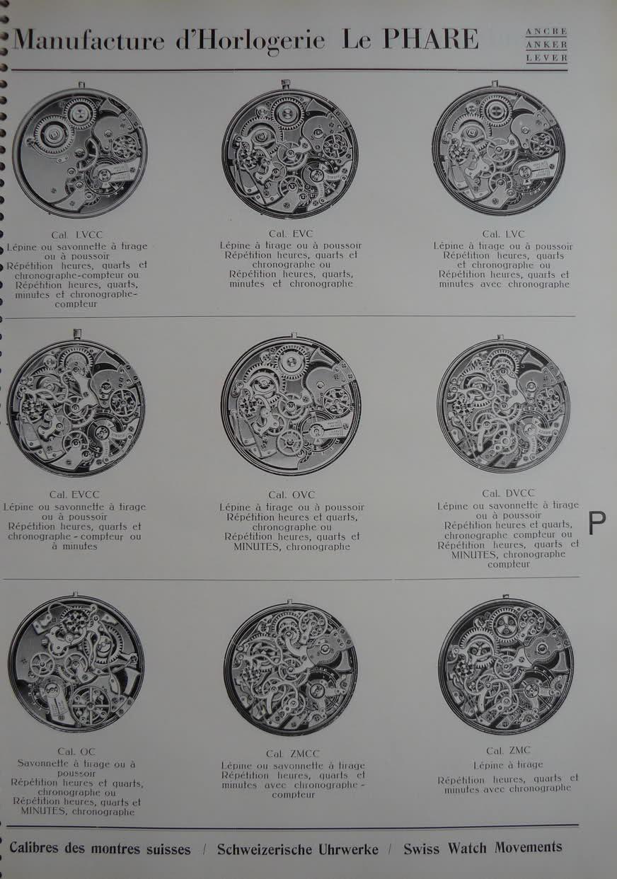 Calibres Le Phare Extrait de la Classification Horlogère 1936 V2zhmr