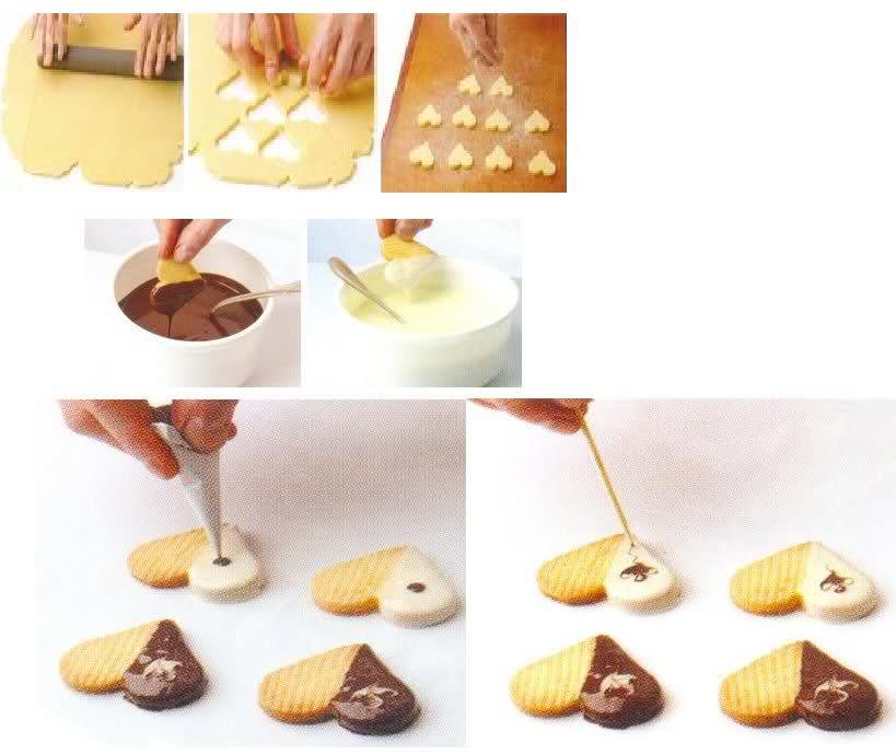 Galletas Decoradas Con Chocolate Fundido
