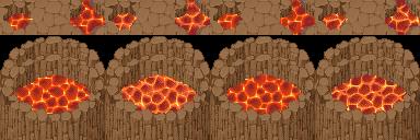 RMXP Tileset de Volcán + Autotiles(Catarata de lava) 2psj60x