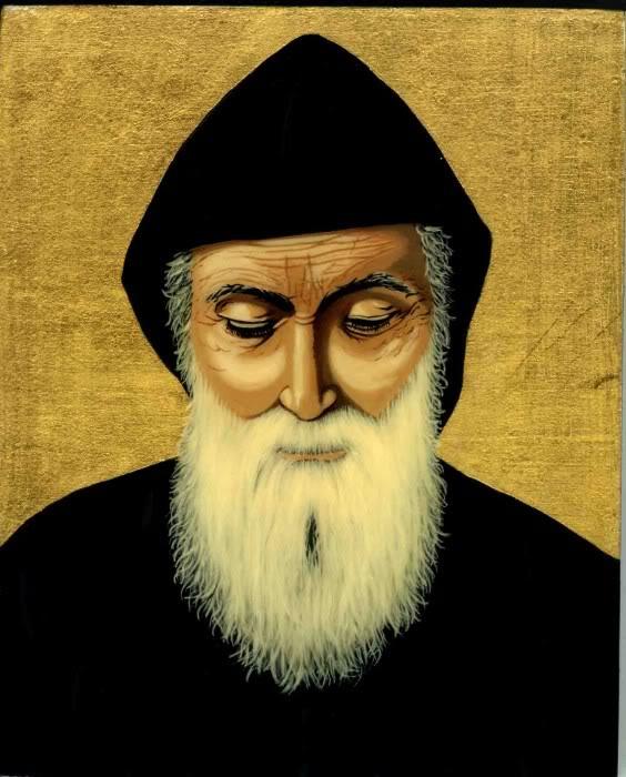 St. Charbel by Artist Painter- Iconographer  Christine Habib el Dayé F5a843