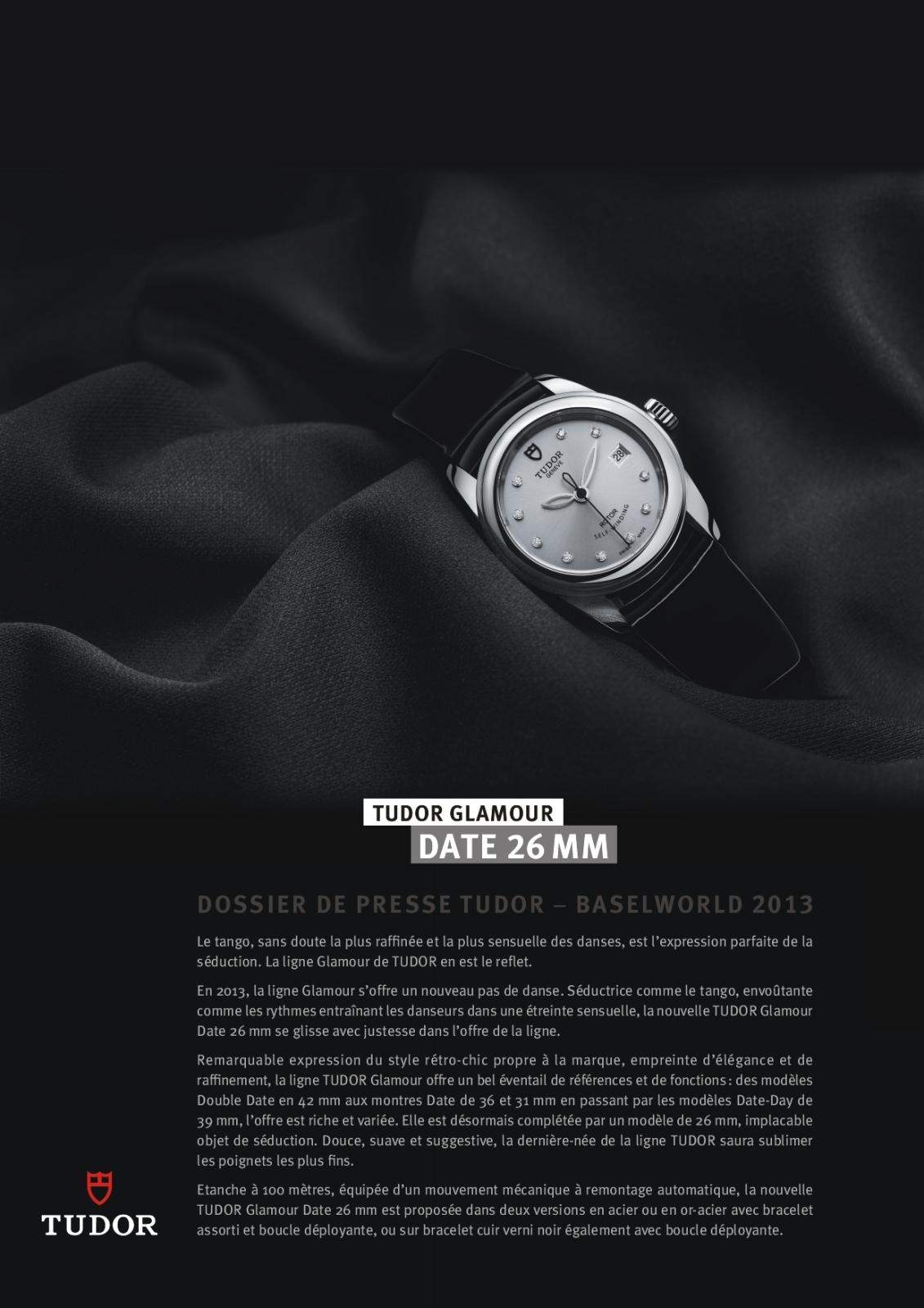 Baselworld 2013: Tudor - Glamour Date 26mm 10qkpdh