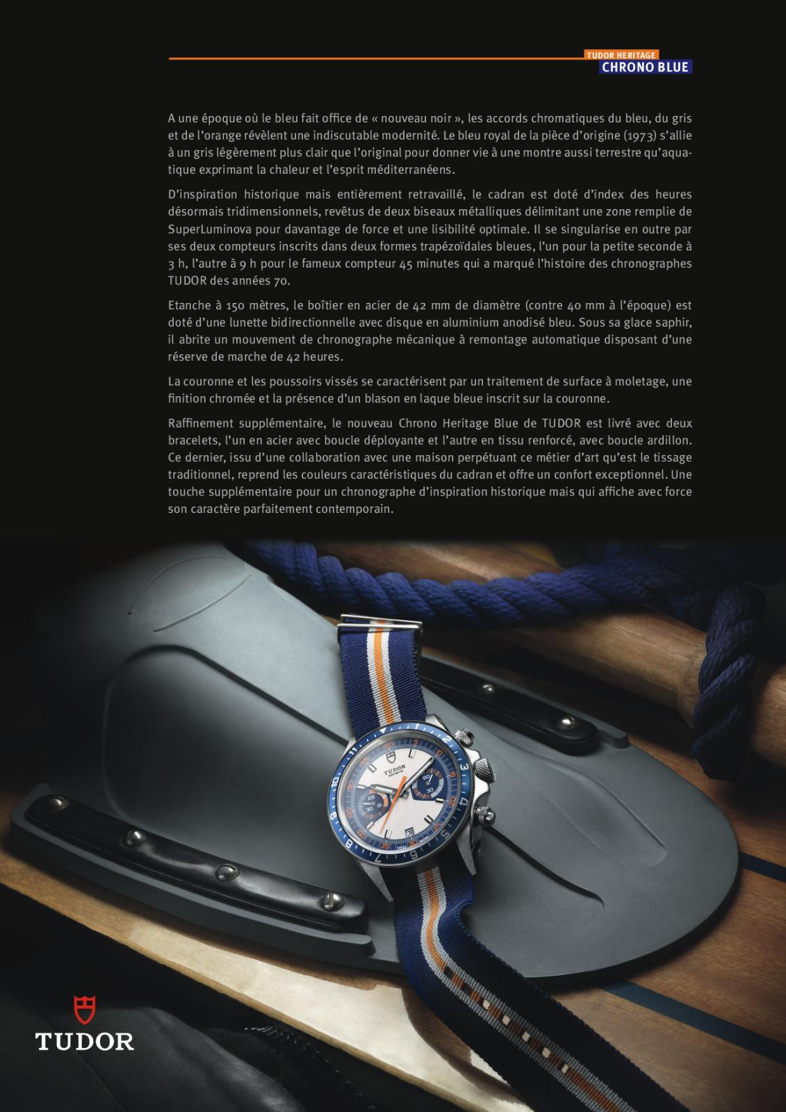 Baselworld 2013: Tudor - Chrono Héritage Blue 10pddzq