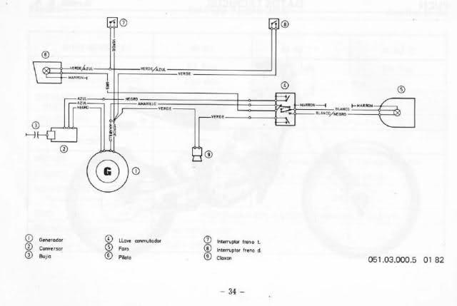 Puch Cobra M-82 - Esquema Eléctrico 23li0l1