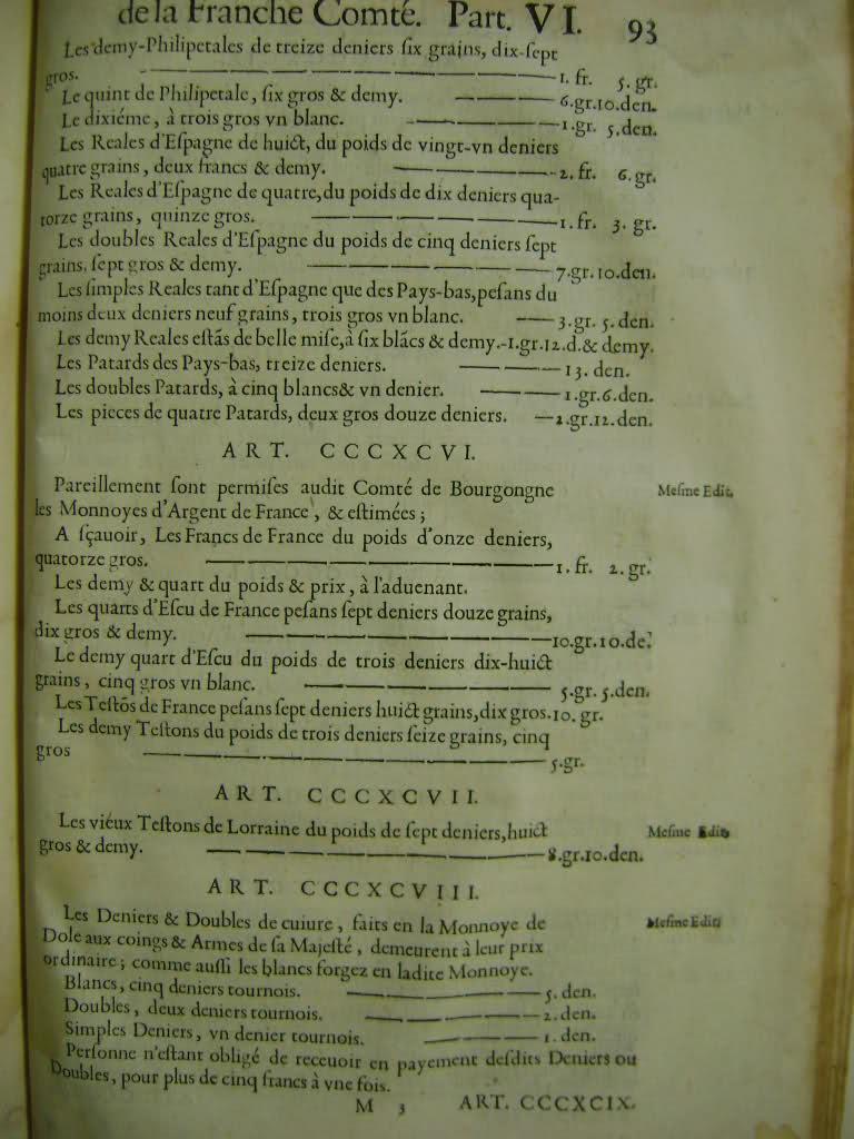 Lois et coutumes de la Franche Comté de Bourgogne au XVII°. 3508iyt