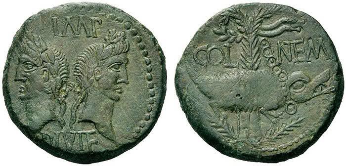 As et dupondius de Nîmes Eju8as