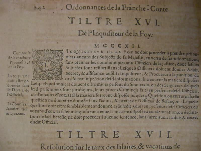 Lois et coutumes de la Franche Comté de Bourgogne au XVII°. 292nsxh