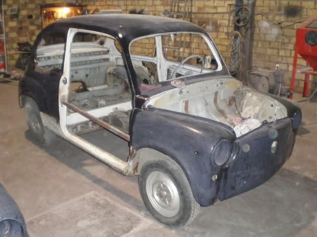 Restauración Seat 600 E 1ª serie. 2d56jl
