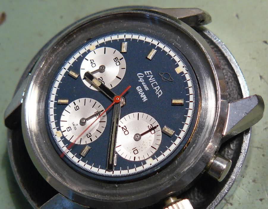 Enicar - Chronograph Enicar R72 : du Sherpa à l'Aqua Annaqs