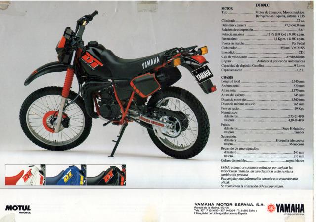 Mi Yamaha DT 80 210hqxl