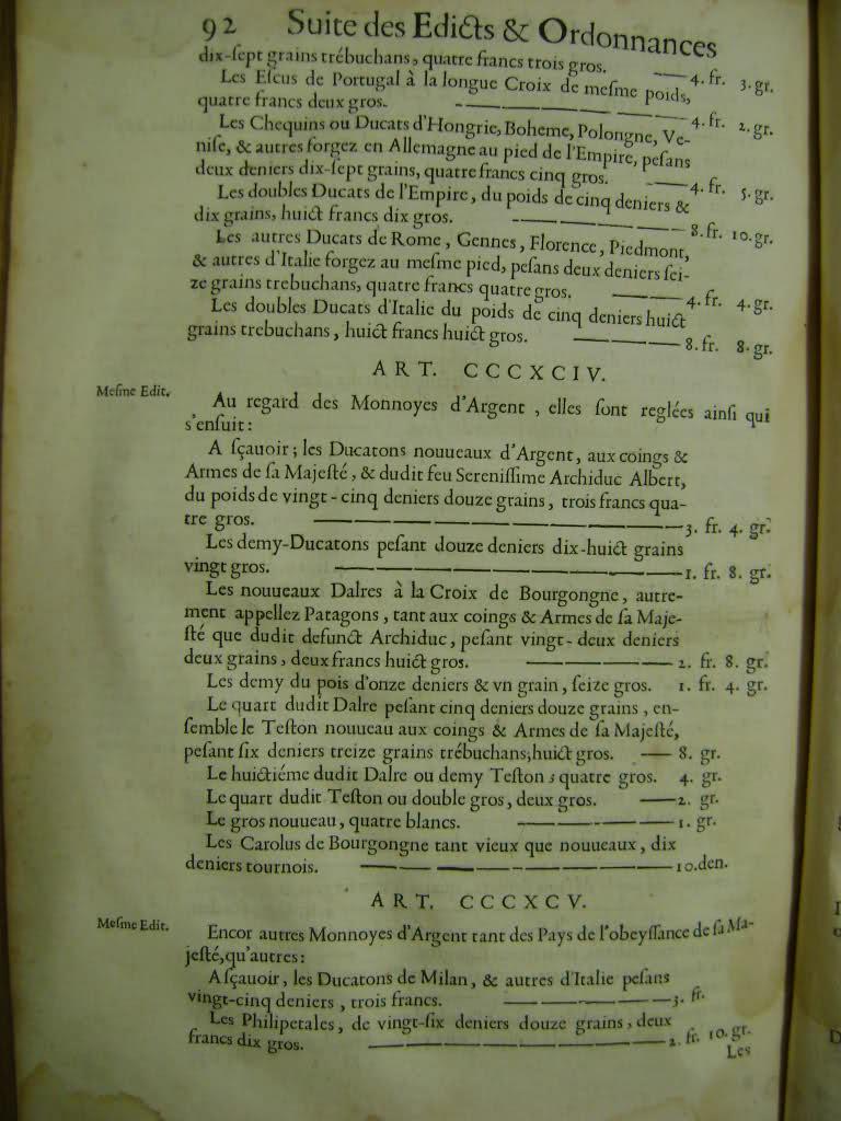 Lois et coutumes de la Franche Comté de Bourgogne au XVII°. Fo3nzn