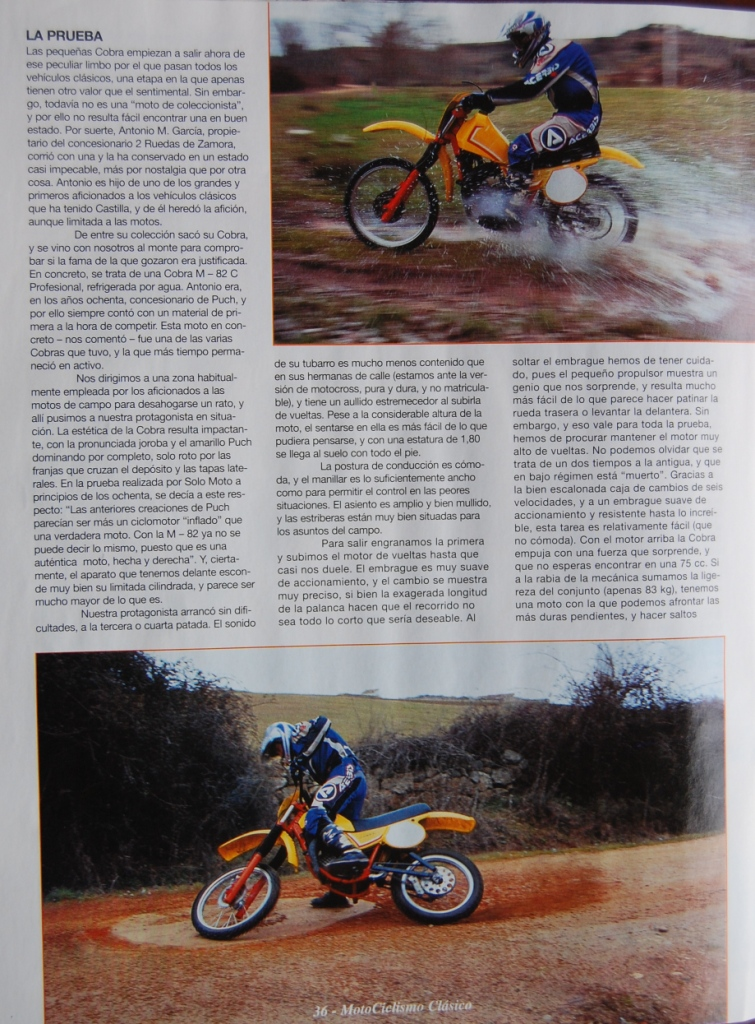 Puch Cobra M-82 C Agua - Prueba En Motociclismo Clásico 11uujvr