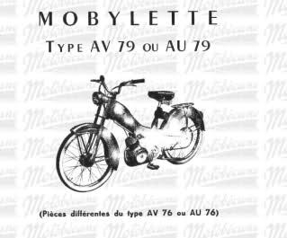 #Despiece Mobylette AV79-AU79. 155qwlw