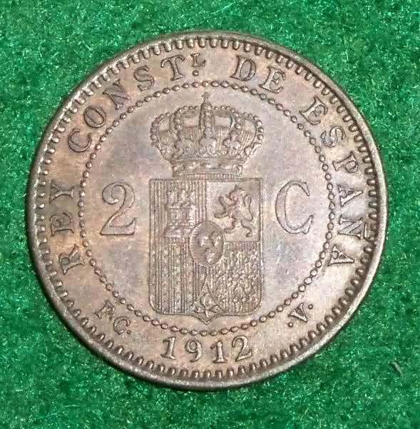 2 Céntimos 1912 (*12). PCV. Alfonso XIII. Dedicado a los 100 años del Titanic. 16l04eb