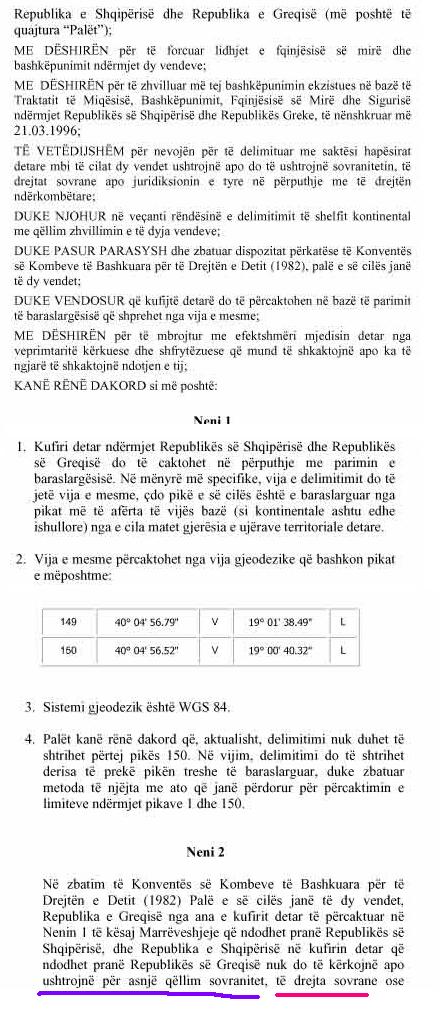 EKSKLUZIVE/ Harta sekrete, Greqisë i falim kufirin deri në Qeparo 24m8581