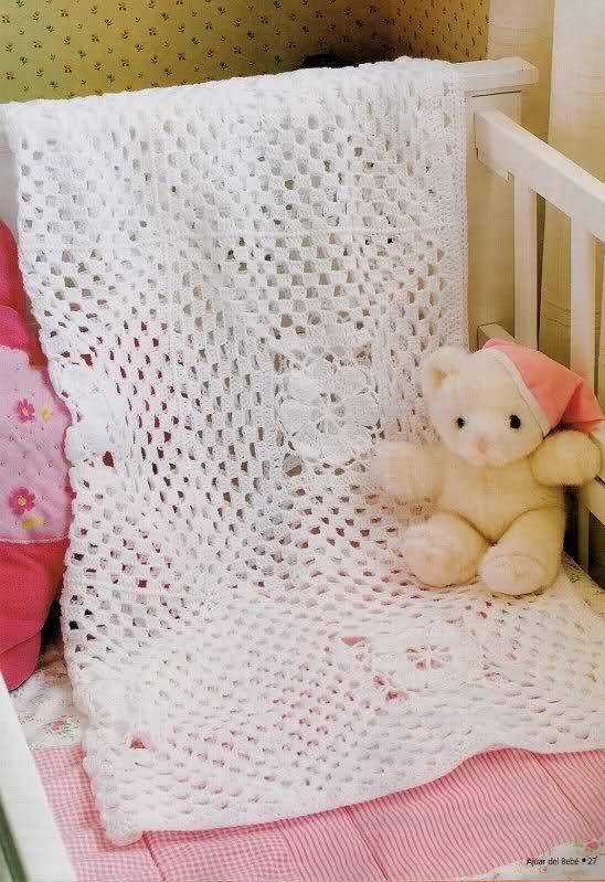 patrones - Patrones de Mantitas para bebés (Tejidas a crochet para Marijou) 260wk9c