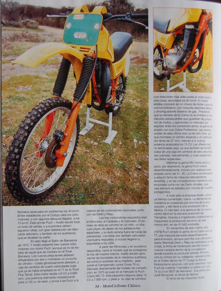 Puch Cobra M-82 C Agua - Prueba En Motociclismo Clásico 281yozn