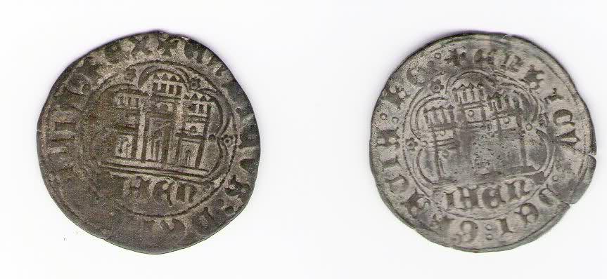 Cuartillos de Enrique IV de la ceca de Jaen, variantes 2dv8vwi