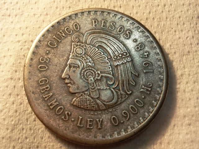 Cinco pesos Mexicanos 2mfivcz