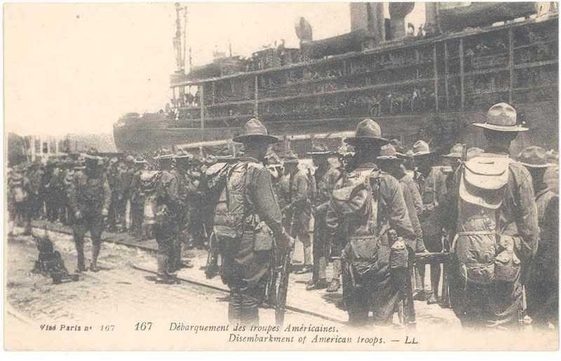 SAINT NAZAIRE les premier débarquements de Troupe Américaine le 26 juin 1917 2rc97pl