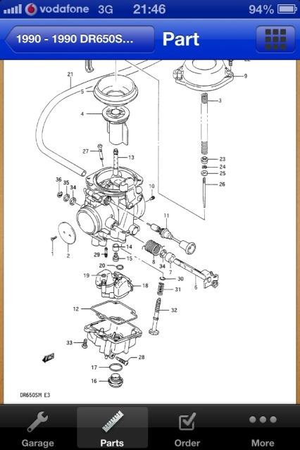 Mikuni Bst40 - Suzuki Dr650rs 315kbib