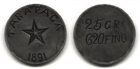 Monedas obsidionales de Chile 55gkk9
