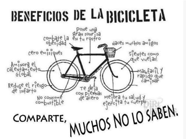 Beneficios de la bicicleta. 5cyrl0