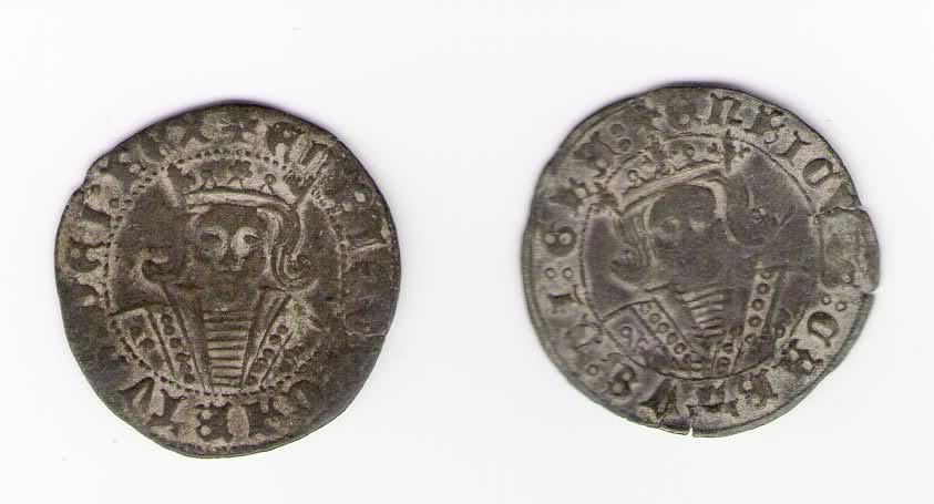 Cuartillos de Enrique IV de la ceca de Jaen, variantes Dpjlzb