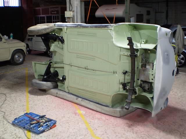 Restauración Seat 600 E 1ª serie. Rlc1td