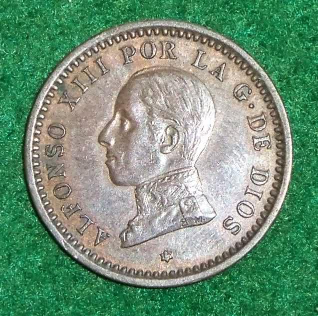 2 Céntimos 1912 (*12). PCV. Alfonso XIII. Dedicado a los 100 años del Titanic. W0knlx